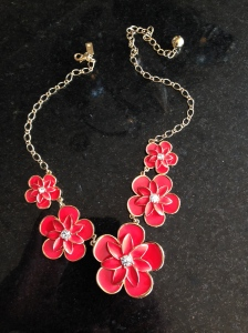 Floral Kate Spade Sparkly necklace in orange