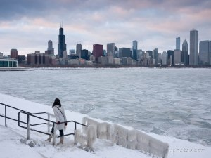 Chicago in the winter