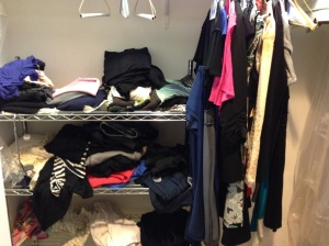 My pared down closet after packing