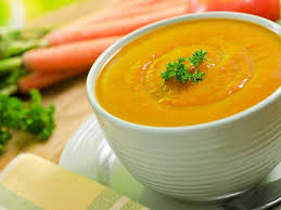 Yummy, healthy carrot soup!